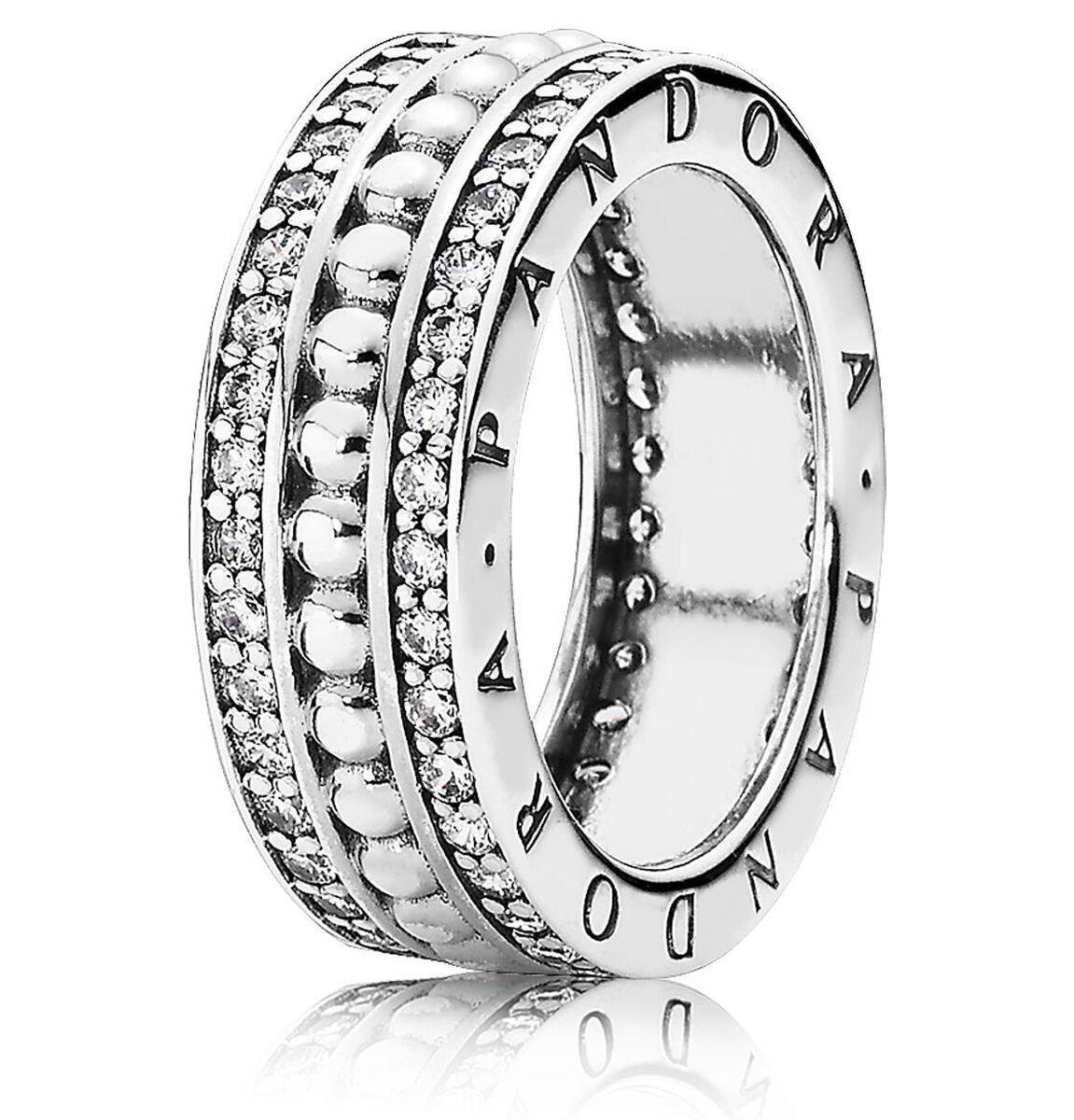 """Pandora Ring """"Pandora Logo 190962CZ"""", 925er Silber"""