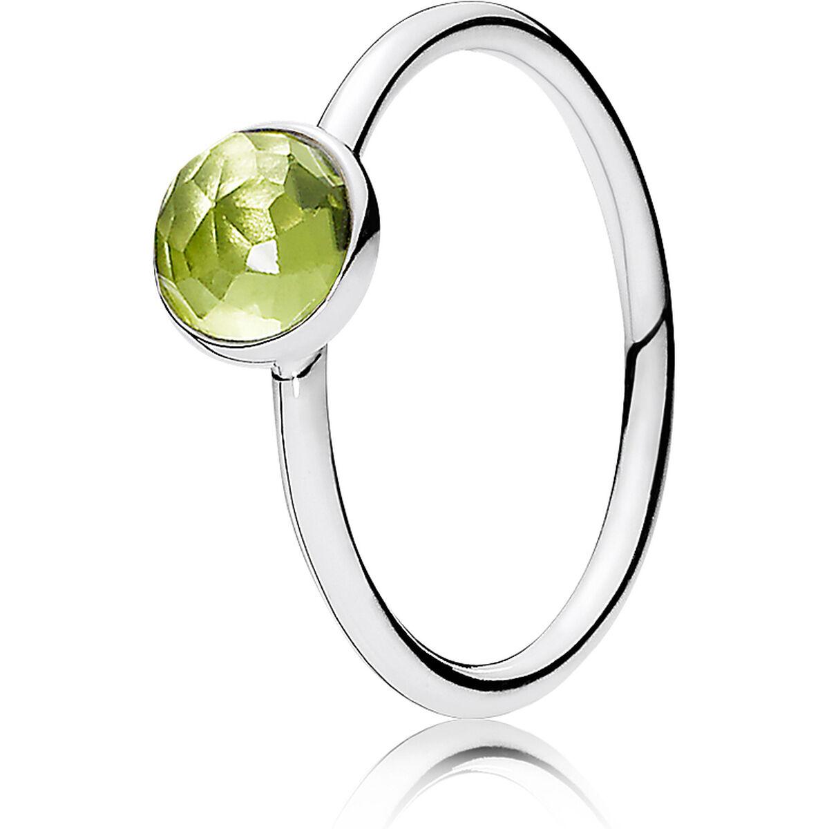 Pandora Damen Ring Geburtsstein August 191012PE, 925er Silber