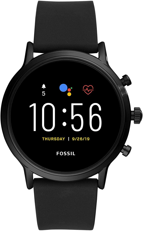 Fossil Herren Touchscreen Smartwatch 5. Generation mit Lautsprecher, Herzfrequenz, GPS, NFC und Smartphone Benachrichtigungen