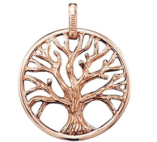 NAHU NAP-EDEN-MR Anhänger Rose Lebensbaum in echt 925 Silber