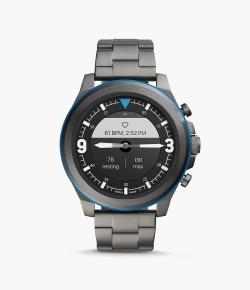 Fossil Hybrid Smartwatch HR Latitude Edelstahl rauchgrau für nur 64,85 Euro