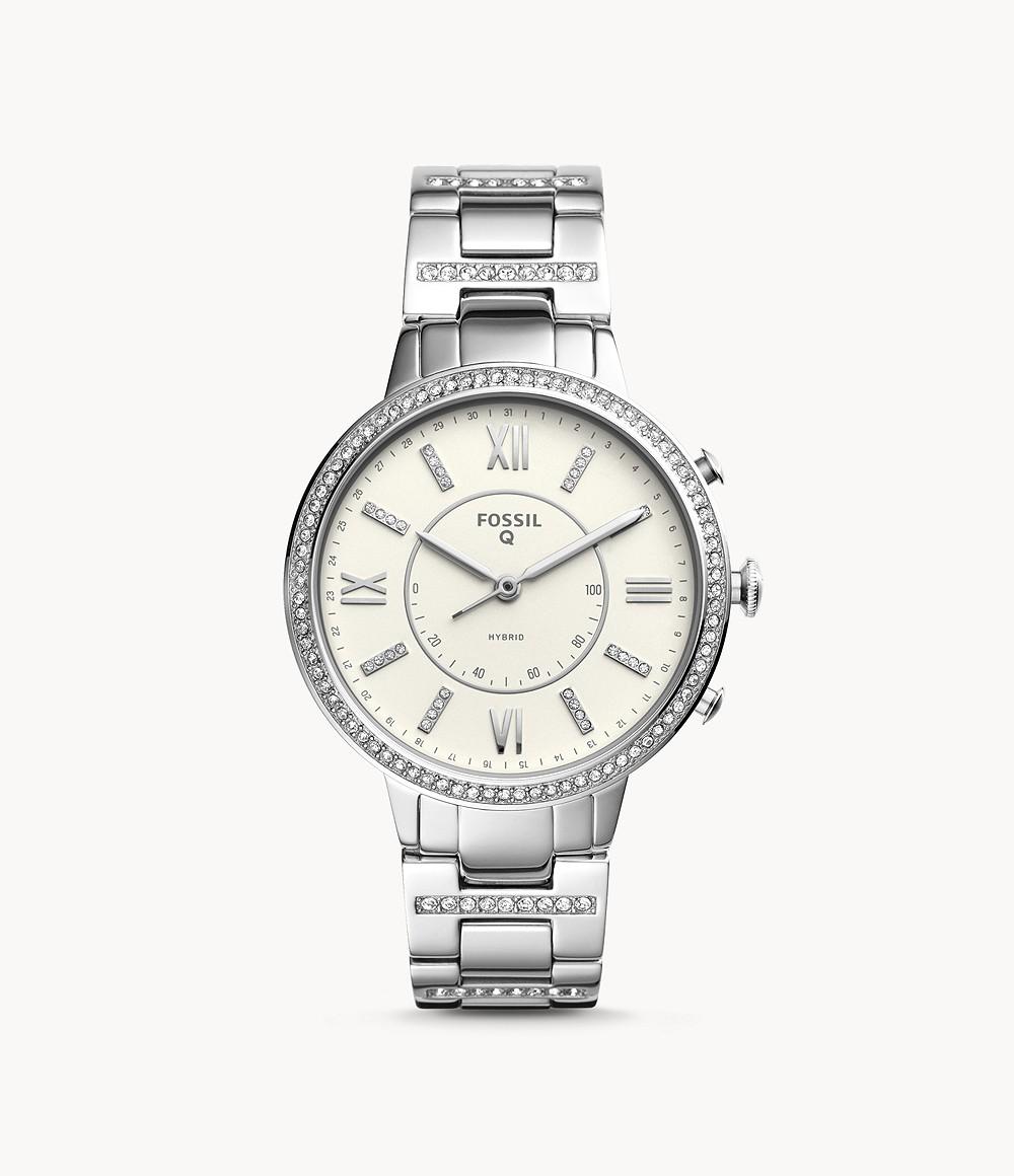 Fossil FTW5009 Damen Hybrid Smartwatch Virginia Edelstahl
